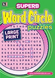 Superb Word Circle Puzzles Large Print