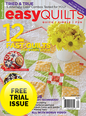 Easy Quilts Magazine Cover