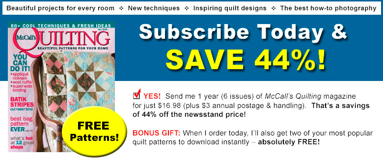 McCall's Quilting Subscription