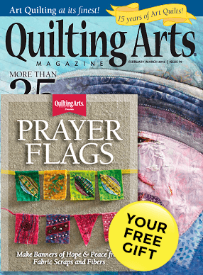 Quilting Arts Magazine Cover