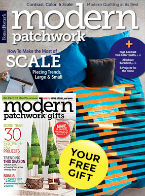 Modern Patchwork Magazine Cover