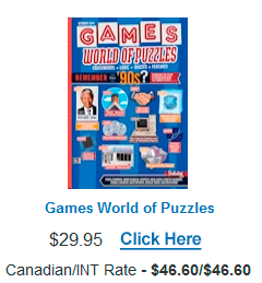 Click Here to order Games - World of Puzzles