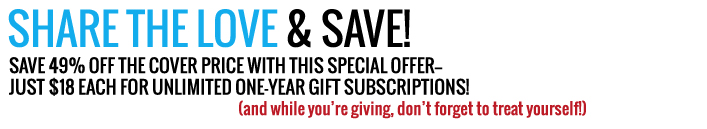 Subscribe today and save 49 percent