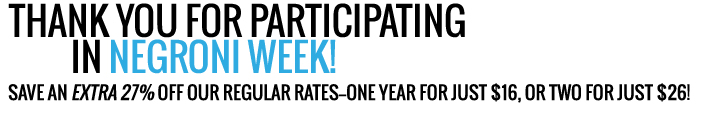 Save an extra 27% off our regular rates - one year for just $16!