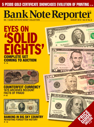 Bank Note Reporter Cover