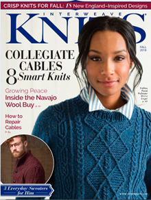 Interweave Knits Magazine Cover