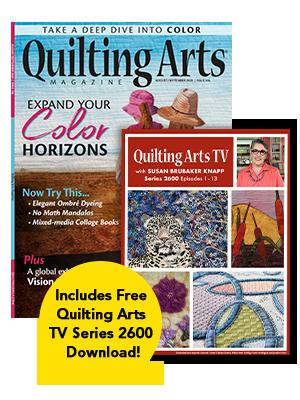 Quilting Arts Magazine Cover