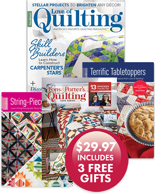 Love of Quilting Magazine Cover