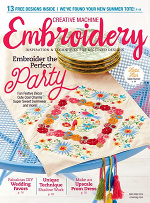 Creative Machine Embroidery Magazine Cover